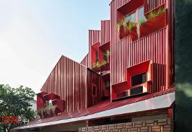 خانهای قرمز به سبک فلز در اندونزی!(+عکس)