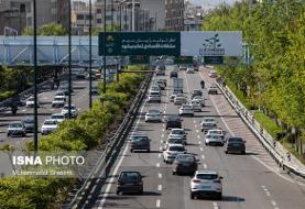 وضعیت ترافیکی معابر پایتخت در روز تحلیف رییس جمهور