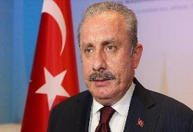 رئیس مجلس ترکیه برای حضور در مراسم تحلیف ریاستجمهوری وارد تهران شد