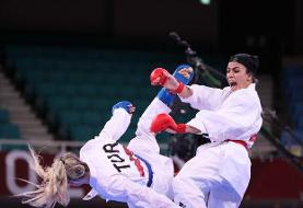 کاراته المپیک توکیو/ درخشش سارا بهمنیار با شکست قهرمان جهان