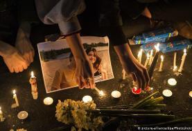 راهپیمایی خانواده جانباختگان هواپیمای اوکراینی در کانادا