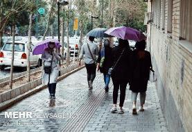 بارش باران و وزش باد در ۶ استان/وضعیت جوی استان های شمالی