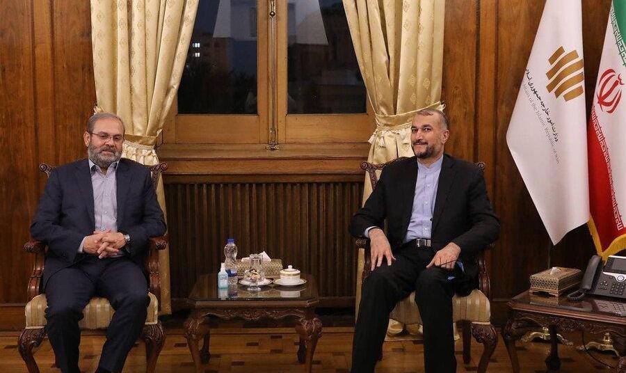 دیدار نماینده جنبش حزب الله لبنان در ایران با وزیر خارجه   تقدیر از ...
