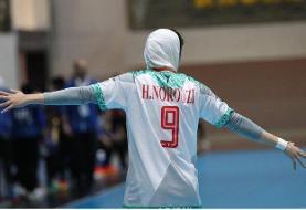 نخستین پیروزی هندبالیستهای ایرانی در مسابقات قهرمانی زنان آسیا