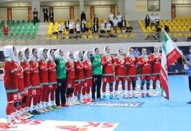 تقابل تیم ملی هندبال زنان ایران مقابل کره در نیمه نهایی آسیا