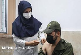 ۹۰ درصد سربازان پلیس پیشگیری تهران واکسینه شدند