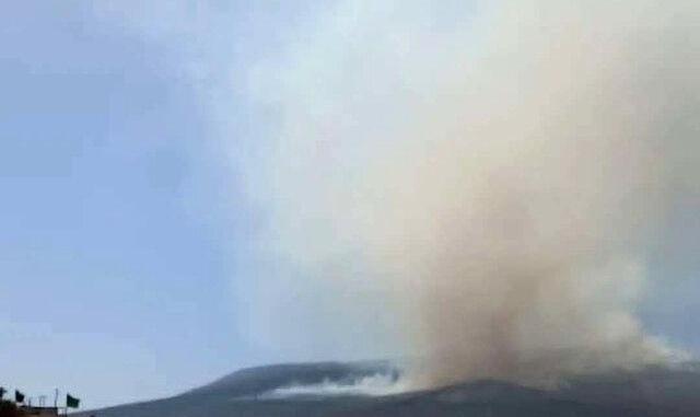 آخرین وضعیت آتش سوزی جنگلهای کوه نیر بویراحمد