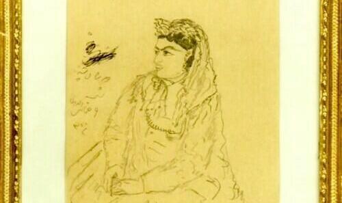 نمایش آثار طراحی و نقاشی ناصرالدین شاه در کاخ گلستان