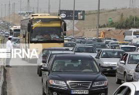 ترافیک نیمه سنگین تا سنگین در مسیرهای ورودی تهران
