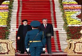 عکسی از استقبال رسمی امامعلی رحمان از آیت الله رییسی