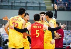 تیم ملی والیبال چین سوم شد