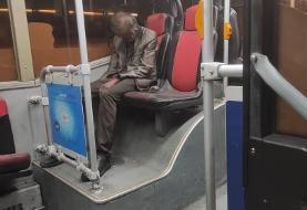 ماجرای جسدی نشسته روی صندلی اتوبوس واحد در تهران (+عکس)