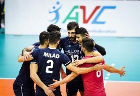فینال والیبال قهرمانی آسیا/ ایران ۱- ژاپن صفر