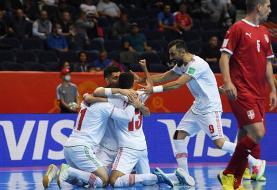 برنامه بازیهای مرحله یک هشتم نهایی جام جهانی فوتسال