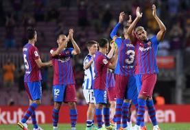 تک امتیاز خانگی، حاصل بازی بیبرنامه بارسلونا