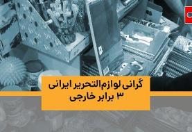 ویدئو | گرانی لوازمالتحریر ایرانی ۳ برابر خارجی