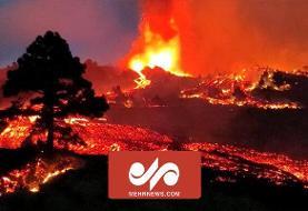 تصاویر فوران آتشفشان در جزایر قناریِ اسپانیا