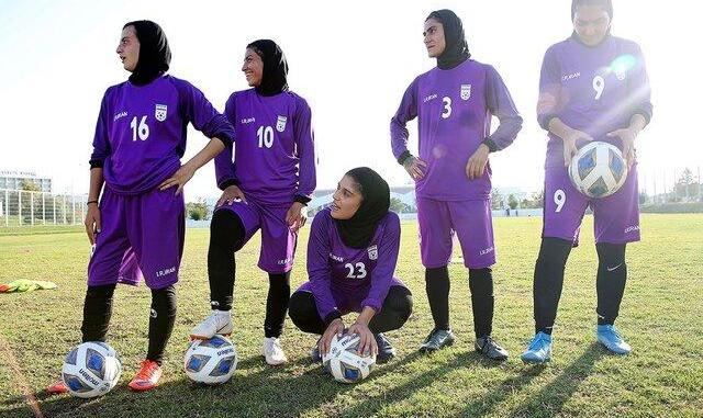 پیروزی پرگل زنان فوتبالیست ایران مقابل بنگلادش
