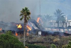 تداوم فوران آتشفشان در اسپانیا
