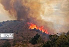اعزام ۳ بالگرد برای آتش سوزی جنگل گلستان