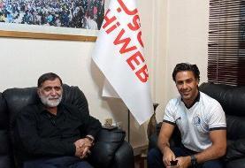 (عکس) اولین جلسه فرهاد مجیدی با مدیرعامل جدید استقلال