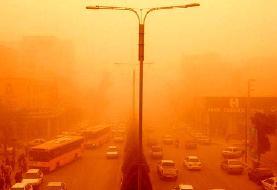 وقوع گردوغبار شدید در تهران