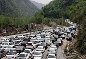 مسدود شدن آزادراه تهران-شمال | ترافیک در جاده چالوس سنگین است